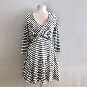 Free People Striped Knit Maverick grey dress M